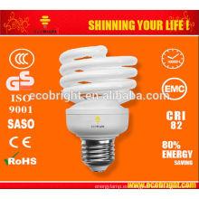 ¡Nuevo! T2 La mitad completo espiral 23W energía ahorro lámpara 8000H CE calidad