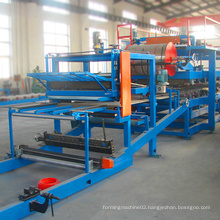 Low cost EPS foam color steel step tile roll forming machine