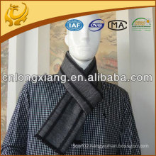 Mens Fashion Stripe Jacquard Silk Scarf