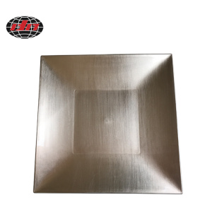 Silver Square Plastic Plate with Metallic Finish