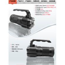 Lampe de poche d'urgence 4 x Cree XM-L2 LED 3-Mode 3500 Lumens Lampe de poche LED Lanterne de camping portable (4 x 18650)