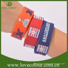 Дешевые пользовательские бесплатный образец 1 дюйм силиконовые браслеты