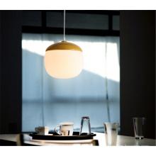 Modern home dining room hanging light led wood pendant lamp