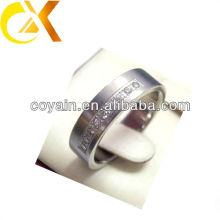 CZ piedra super de alta calidad anillo de acero inoxidable