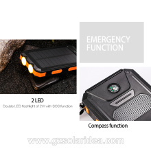 Portable 10000mAh Solar Battery Charger For Cell Phone