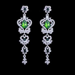 Alloy Crystal Red Diamond Princess Earrings
