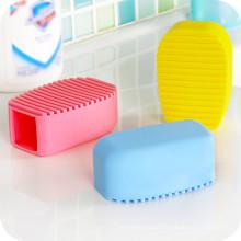 Antiskid Cleaning Washing Fleible Silicone Scrub Brush