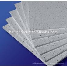 Placa de fibra mineral, teto falso de fibra mineral