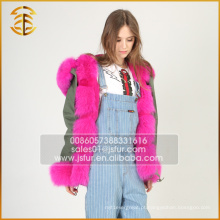 2017 Hot Selling Cheap Winter Coat Real Fox Fur Parka para mulheres