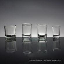 Taille personnalisée en gros verre à liqueur clair