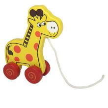Tiere Spielzeug Wooden Pull-along Giraffe Spielzeug