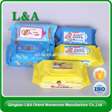 China Professional Exporter Spunlace Nonwoven Fabric For Wet Tissue Wipe Use