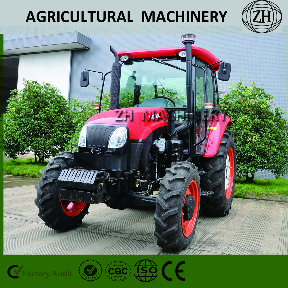 Red Agricultural Machinery 90HP Farm Tractor