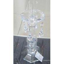 Bougeoir en verre transparent avec affiche unique