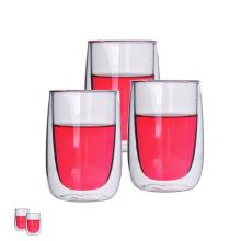 Standardgröße Borosilikatglas Doppelwandiges Trinkglas