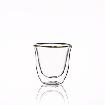 Dishwasher & Microwave Safe  Double Wall  water glass cup with printing