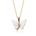Alibaba Express Gold Charm Necklace Mumbai endearing jewelry gold charm butterfly crystal pendant necklace