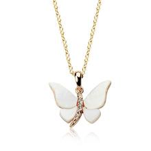 Alibaba Express Gold Charm Halskette Mumbai liebende Schmuck Gold Charme Schmetterling Kristall Anhänger Halskette