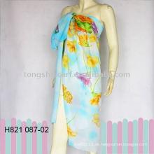 modischer floraler Sarong pareo