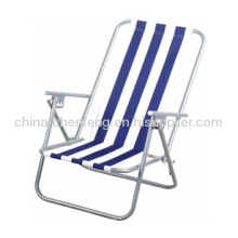 Strip Fabric Beach Chairs With Arm Rest
