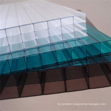 Polycarbonate Sheet for Decoration 4 Wall Sheet for Skylight 10 Years Warranty Different Colors
