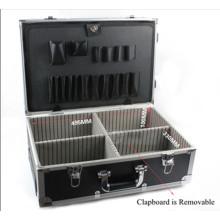 Boîte à outils en chariot en alliage d'aluminium de haute qualité avec roue
