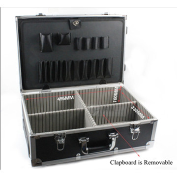 High Quality Aluminum Alloy Trolley Tool Case with Wheel