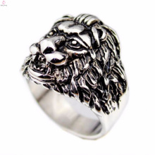 Vintage gothic engraved picture indonesia lions head rings jewelry
