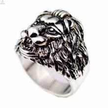 Vintage gótico gravado imagem indonésia leões cabeça anéis jóias