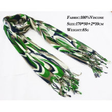 Fashionable Landscape Silk Viscose Scarves