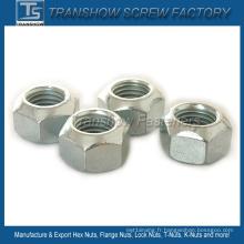 Acier au carbone de DIN980V tout l'écrou hexagonal de serrure en métal