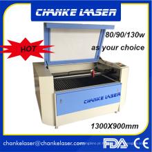 Máquina de gravação a laser de placa de identificação de acrílico Ck1290 100W