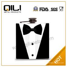 FDA 7oz wedding gifts groomsman hip flask for man