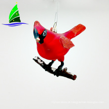 Ornamentos de vidro pequeno pássaro como presente de Natal