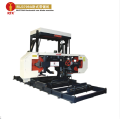 Wood cutting horizontal bandsaw machine