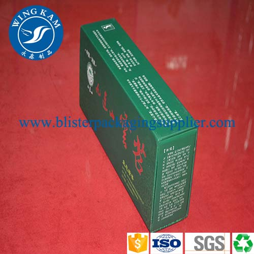 Rectangle Green Tea Cardboard Box Packaging,