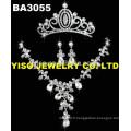 Ensemble de bijoux de mariage en cristal