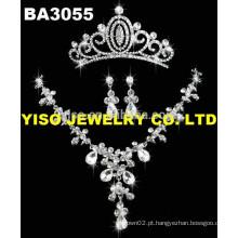 Conjunto de jóias de casamento de cristal
