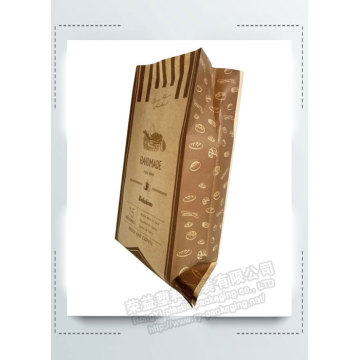 Bread Packaging Paper  Bag with Clear Window