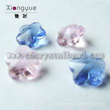 Flor de luxo em forma de vidro pingente grânulos jóias