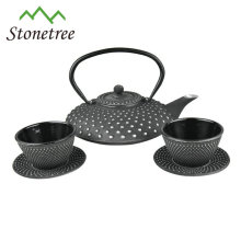 Chinese enamel cast iron kongfu tea set