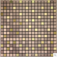 Hot sales golden square shape aluminum metal mosaic for home interior decoration /wallpapers