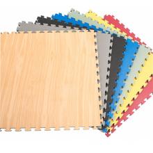 High quality interlocking EVA foam wood grain tatami for sale