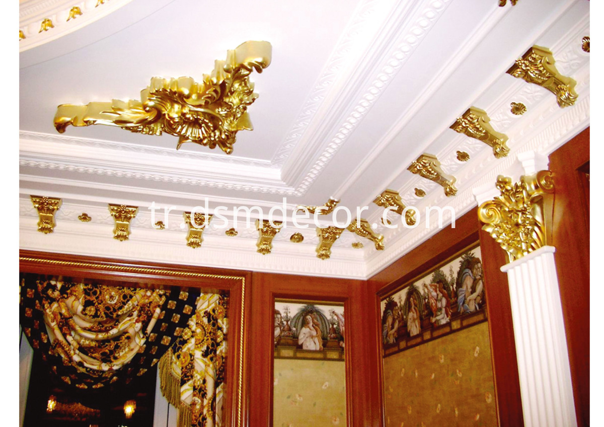 Polyurethane Contemporary Cornices