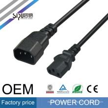 SIPU haute vitesse AC câble d'alimentation pour PC en gros fil électrique ordinateur câble cordon d'alimentation étendre