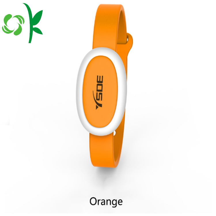 Orange Silicone Mosquito Bands
