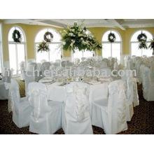 Couverture de chaise de polyester, couverture de chaise de banquet/hôtel, ceinture d'organza