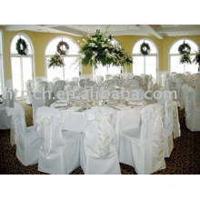Polyester chair cover,banquet/hotel chair cover,organza sash