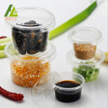Clear Plastic Sauce Container With Lid