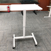 Gas Spring Single Column Pneumatic Sit Stand Desk